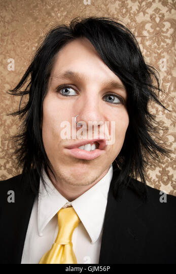 mad upset tense - Stock Image