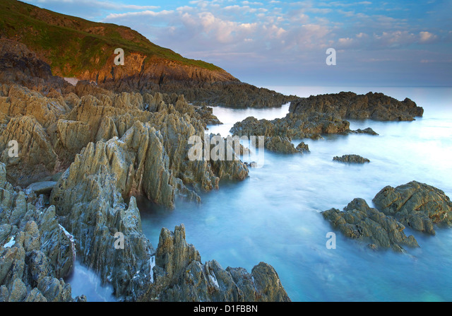 Morte Point, Devon, England, United Kingdom, Europe - Stock Image