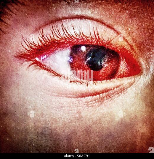 Closeup of a human eye. - Stock Image
