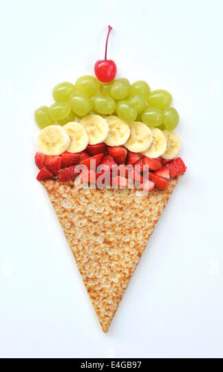 Food art ice cream cone - Stock-Bilder