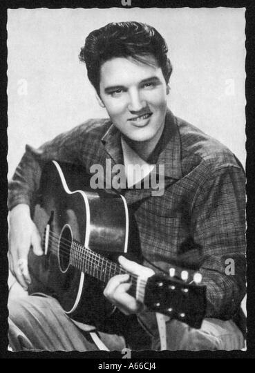Elvis Presley Guitar - Stock Image