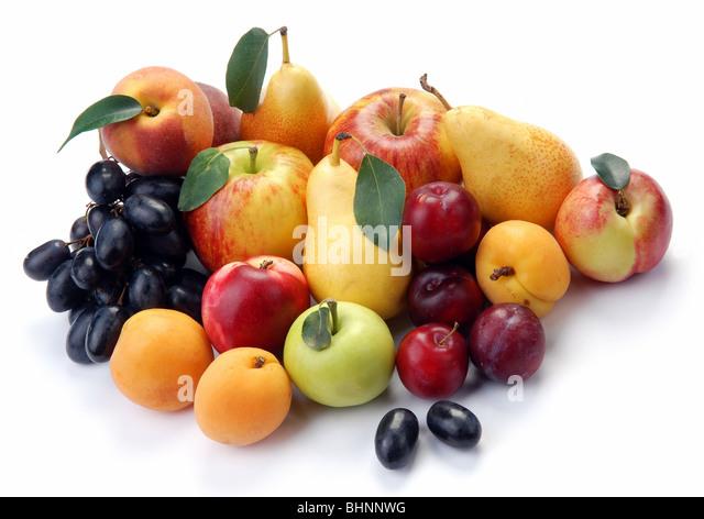 Summer fruit on a white background - Stock-Bilder