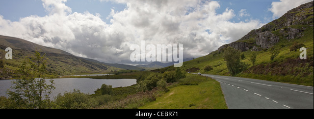 Grwyne Fawr Reservoir in the Black Mountains of Monmouthshire/Gwent in Wales - Stock Image