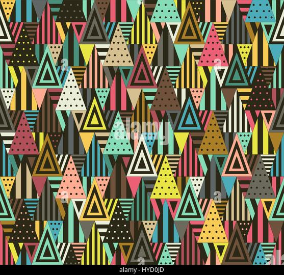 Geometric pattern with triangles - Stock Image