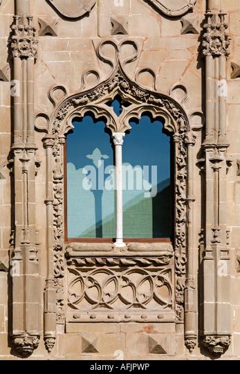 detail palace of jabalquinto baeza patrimony of the humanity jaen Andalusia Spain - Stock Image