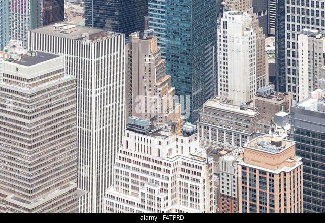 Aerial view of Manhattan, New York City, USA. - Stock Image