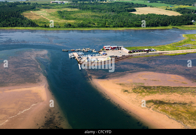 narrow waterway gives safe passage seTracadie - Stock Image