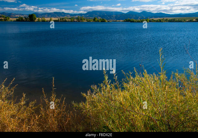 Lake Helena, Helena Regulating Reservoir Fishing Access Site, Lewis and Clark County, Montana - Stock Image