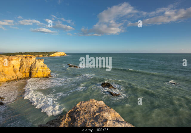 ROUGH SURF HEADLAND CABO ROJO PUERTO RICO - Stock Image