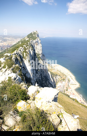 The Summit of the Rock of Gibraltar, Europe - Stock Image