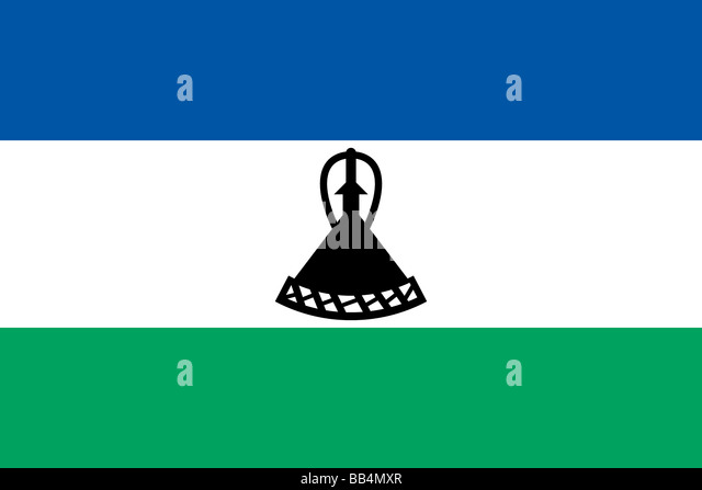 flag of Lesotho - Stock Image