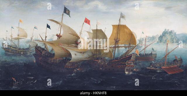 Aert Anthonisz. The battle of Cadix 1608 - Stock Image