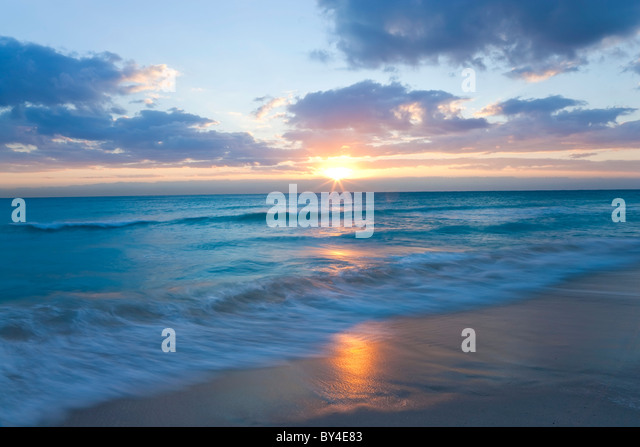 Sunrise, South Beach, Miami, Florida, USA - Stock Image