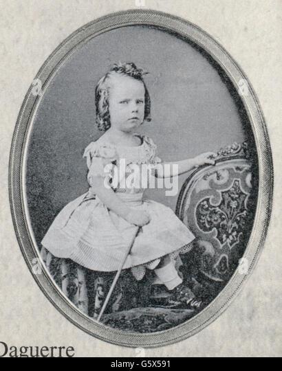 Young girl, 1850-1860 - Stock-Bilder