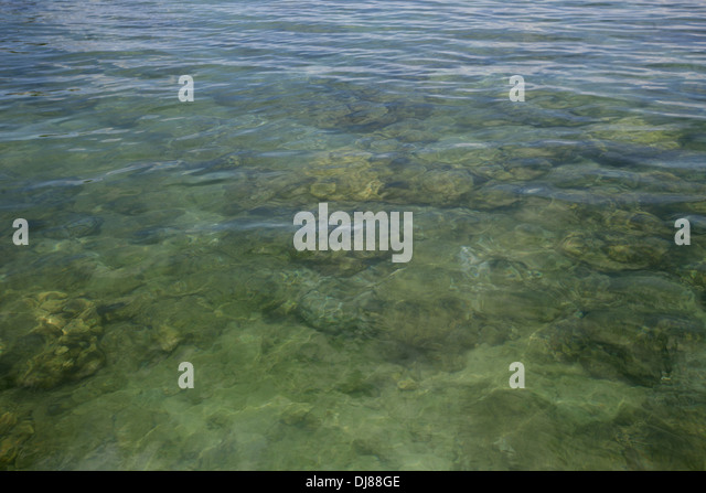 Andaman sea, Jolly Buoy beach, Andaman Island, India - Stock Image