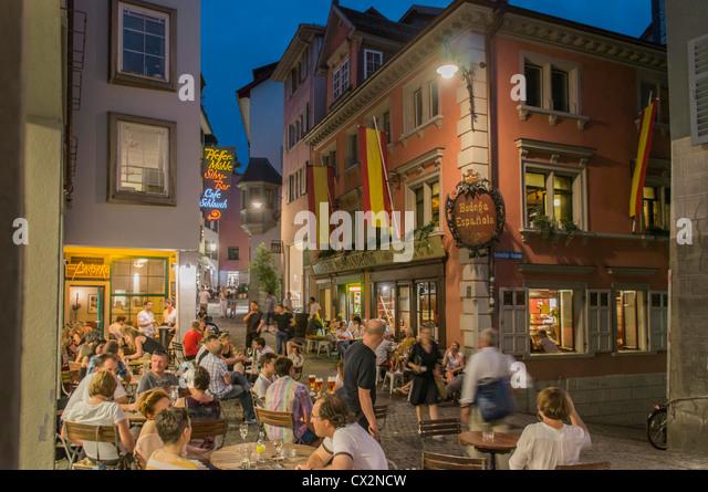 Niederdorf spanish Bodega , Niederdorf, Switzerland Zurich, - Stock-Bilder