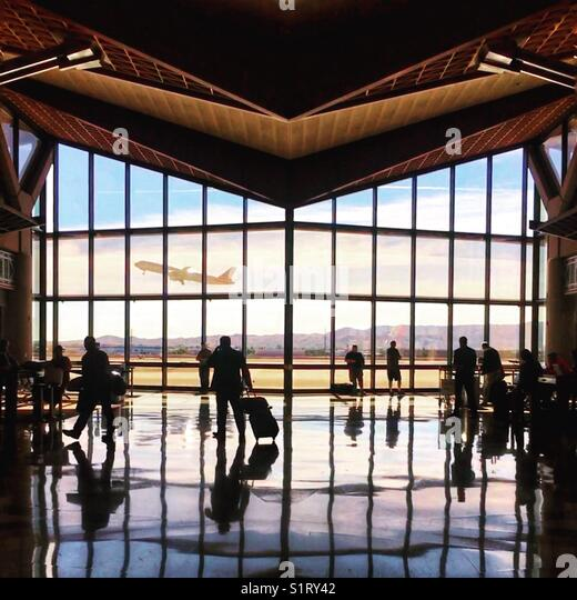 Airport Action - Stock Image