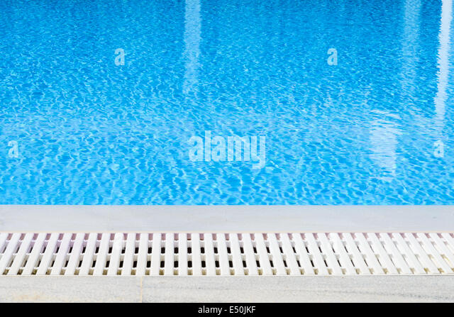 edge of the swimming pool overflow - Stock Image