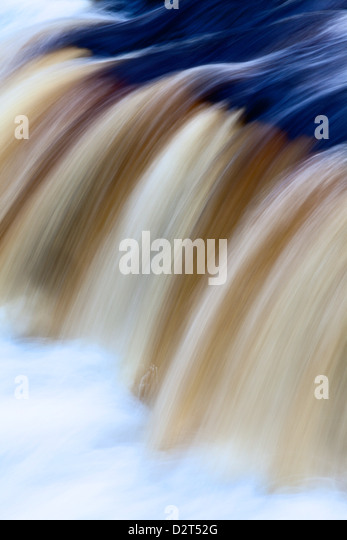 Abstract impression of Upper Aysgarth Falls, Wensleydale, North Yorkshire, England, United Kingdom, Europe - Stock Image