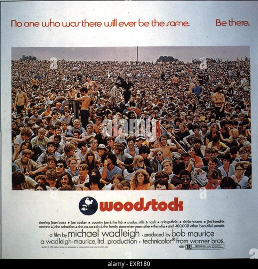 1970s USA Woodstock Film Poster - Stock Image