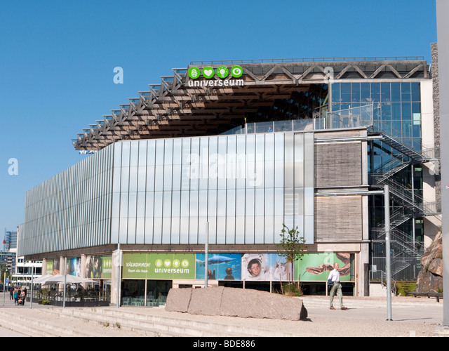 Exterior view of Universeum in Gothenburg Sweden August - Stock-Bilder