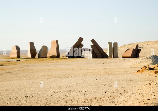 Egypt, Sinai Peninsula, Sharm el-Sheikh, entrée du parc national de Raz Mohamed - Stock Image