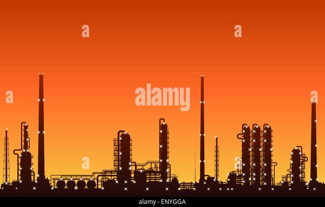 oil-refinery-or-chemical-plant-silhouett