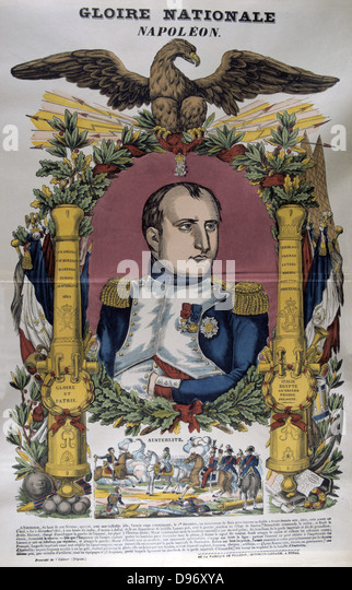 The Battle of Austerlitz, 2 December 1805. The French victory over Austria and Russia led to the Treaty of Presburg, - Stock Image