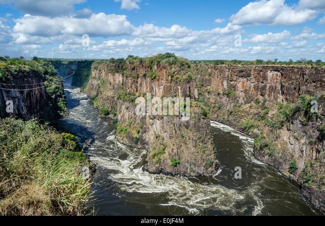 Victoria Falls in Zimbabwe - Stock Image