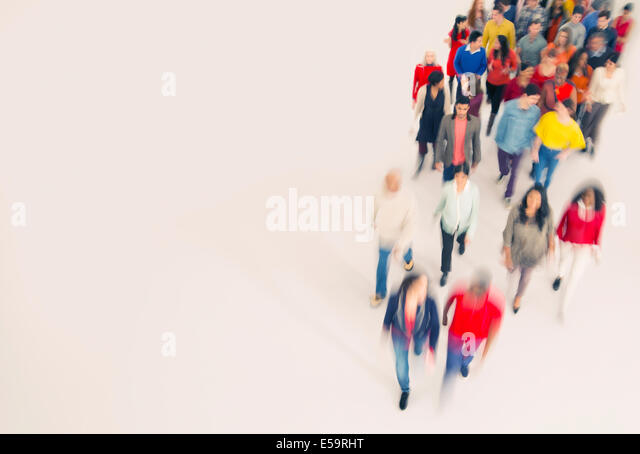 Crowd walking - Stock Image