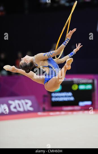 09.08.2012. London, England.  Gymnastics Rhythmic   Wembley  Arena .Evgeniya Kanaeva  Russia - Stock Image