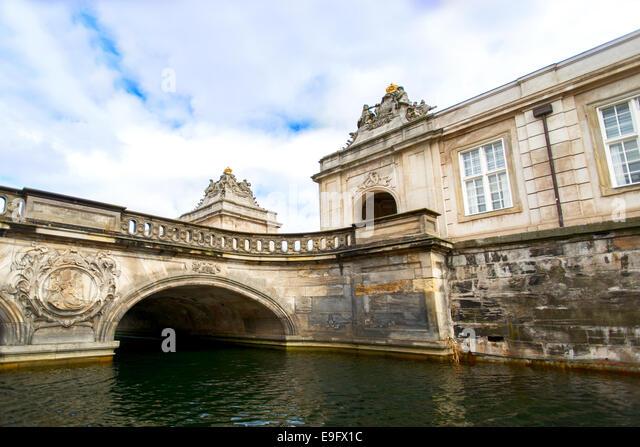Building canal bridge at Copenhagen - Stock Image