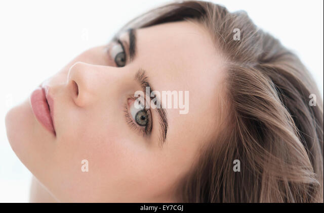 Portrait of attractive young woman - Stock Image