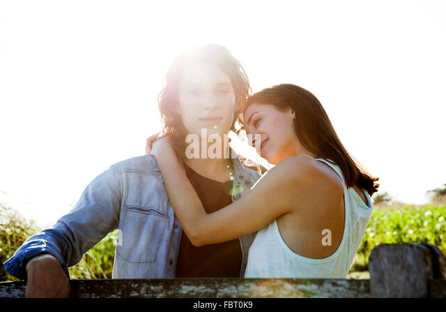 Young couple, portrait - Stock-Bilder