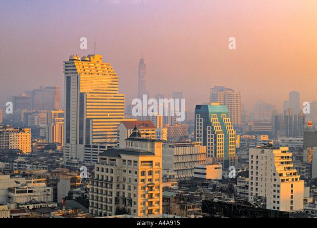 Skyline of Bangkok, Thailand - Stock Image