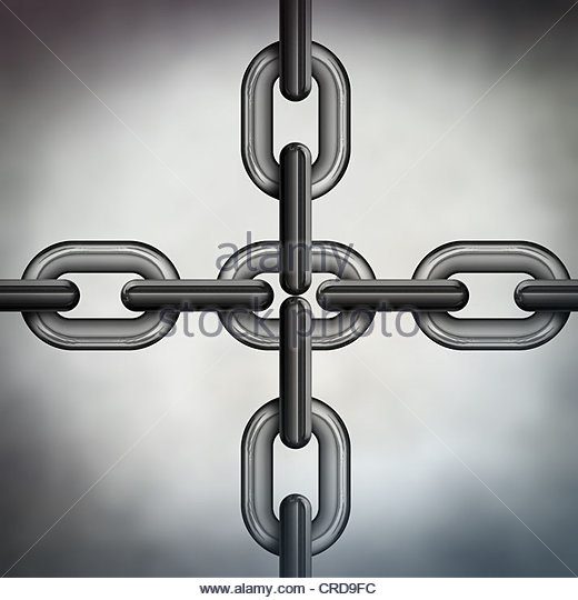 chain links - Stock Image