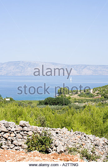 Ocean sea and hills - Stock Image