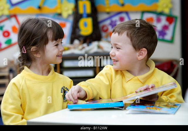 Children Junior School South Wales - Stock Image