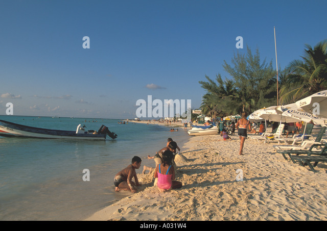 mexico beach isla mujeres day trip excursion near cancun late afternoon - Stock Image