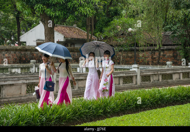 Temple of literature Hanoi Vietnam - Stock Image