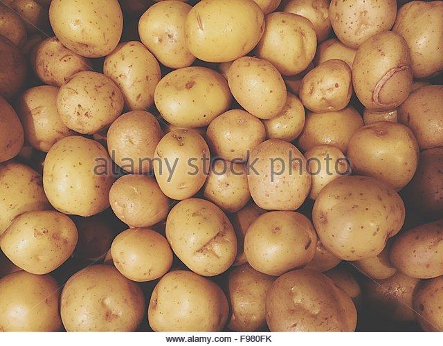 Full Frame Shot Of Potatoes - Stock-Bilder