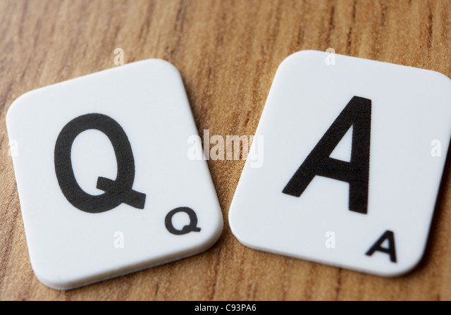 Q & A - Stock Image