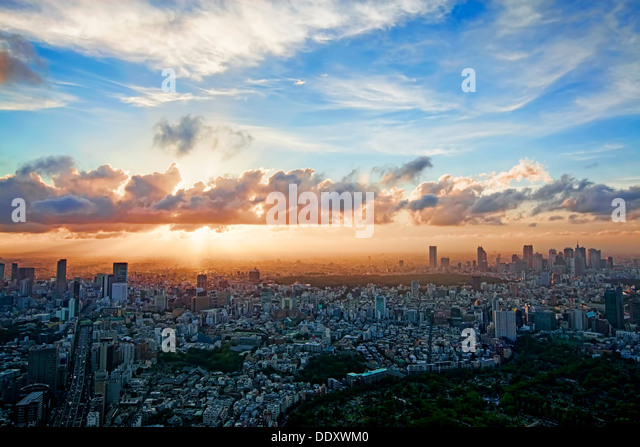 Tokyo Skyline - Stock Image