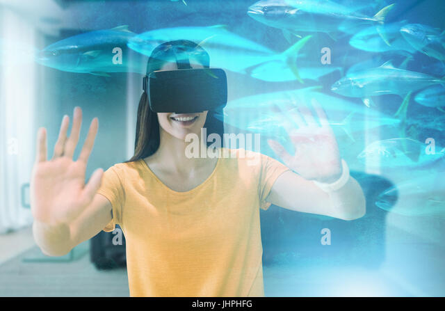 Underwater woman long hair stock photos underwater woman for Happy fish swimming