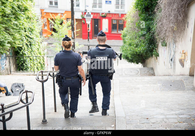 Security army police patrols Paris sights tourist - Stock-Bilder