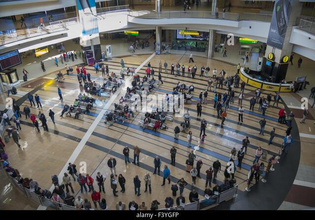 Arrival hall, O R. Tambo Internagional - Stock Image
