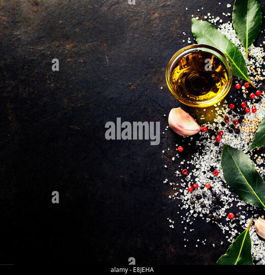 Herbs and spices selection, close up - Stock Image