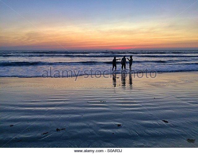Seascape sunset - Stock Image