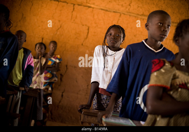 Children attend class at the Kabiline I Primary school in the village of Kabiline Senegal on Wednesday June 13 2007 - Stock Image