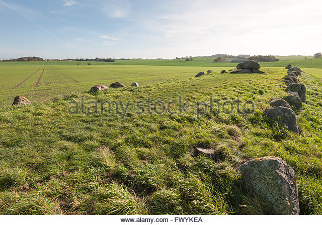 King Humbles grave, Humble, Langeland, Denmark / Humble - Stock Image